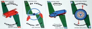 Mille Bornes Safeties Cards with French writing