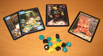 Incan Gold bits and cards