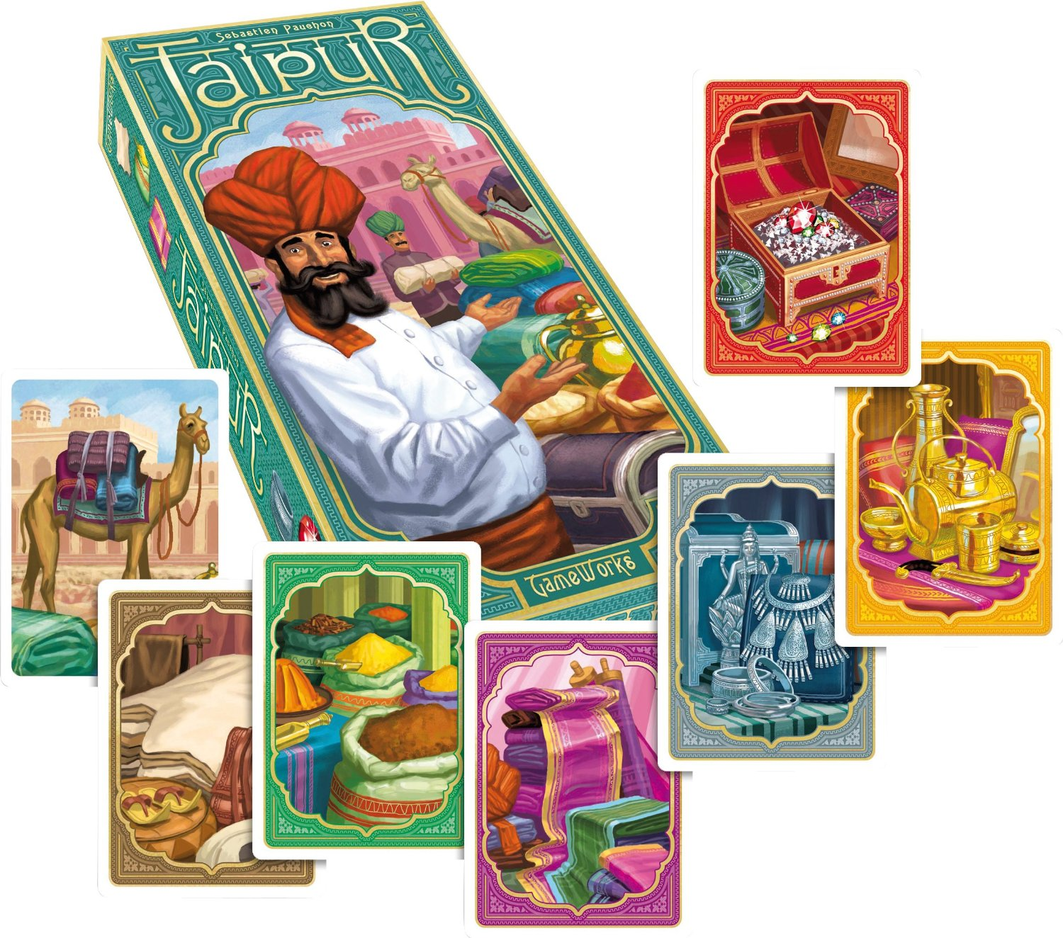 Jaipur: I HIGHLY recommend this 2-player game but what's with the hidden dead panda? • The Game Aisle image