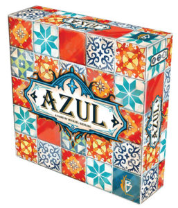 Azul game box with colorful mosaic pattern