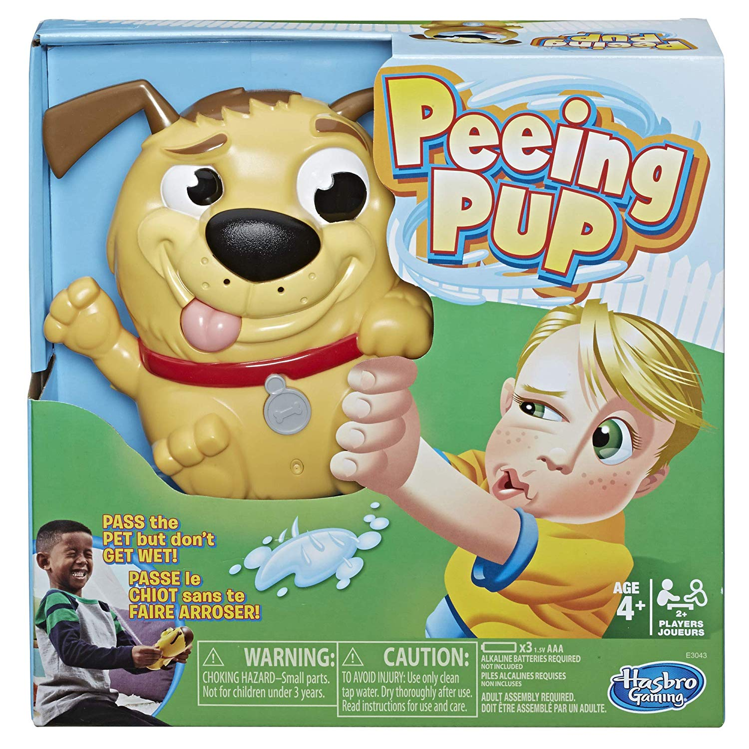 Peeing Pup Game with cutout to show dog centerpiece