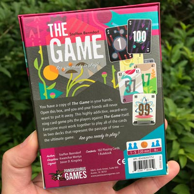 The Game Box Back