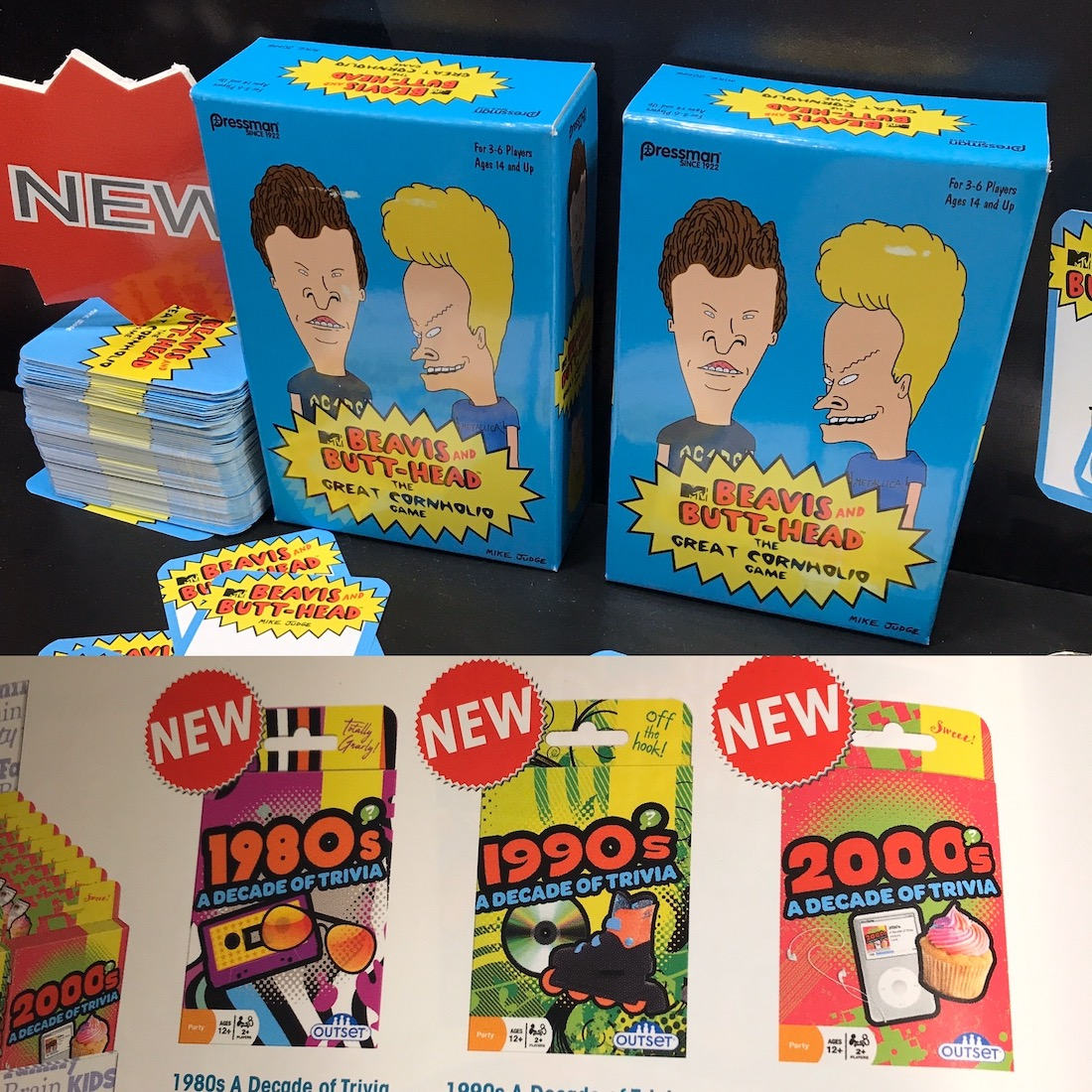 Beavis and Butthead and trivia games