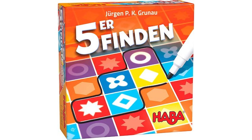 5er Finden: Clever speed visual game for the whole family